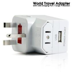 Ổ CẮM ĐIỆN ĐA QUỐC GIA CÓ CỔNG USB ( WORLD TRAVEL ADAPTOR WITH USB)