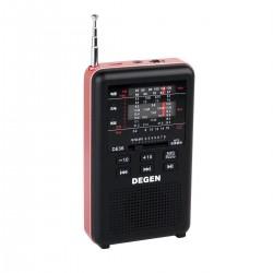 ĐÀI RADIO ĐA BĂNG TẦN NGHE NHẠC MP3  CAO CẤP DEGEN DE- 36 ( đọc MP3 qua cổng TF card)