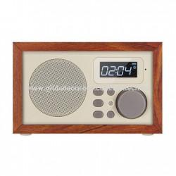 ĐÀI FM  Nghe Nhạc BLUETOOTH ,USB , TF card ,FM VỎ GỖ LOCI D-50