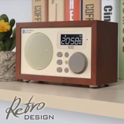 ĐÀI FM BÁO THỨC , BLUETOOTH ,USB , TF card VỎ GỖ NEW LOCI D-50