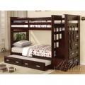 Giường tầng trẻ em 3 tầng Acme Furniture (màu nâu) xuất khẩu Châu Âu
