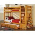 Giường tầng trẻ em 3 tầng Acme Furniture (màu gỗ) xuất khẩu Châu Âu