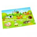 Bảng ghép hình có núm VDN01 - Ghép hình trang trại