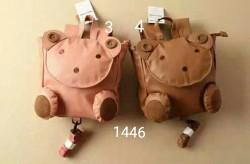 0098. Ba lô Hàn quốc thỏ và gấu nắp tròn các màu - 580blf