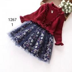 1117.  Váy len lông cừu chân voan hoa nhí bèo ngực rất xinh ạ - 902vag
