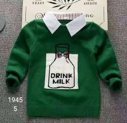 1945. Áo len lông thỏ dệt cổ sơ mi - 962alf