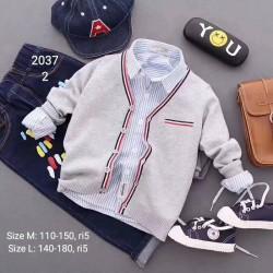 2037. Áo len Hàn Quốc bé trai - 652alk