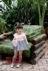 1893. Váy Hàn Quốc cổ bông hoa phối chân ren tuyệt đẹp - 474vak
