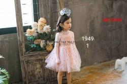 1949. Váy len Hàn Quốc TZ chân voan chấm bi - 620vak