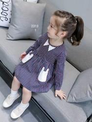 2313. Váy thô Hàn Quốc 2 túi tai thỏ rất yêu - 908vak