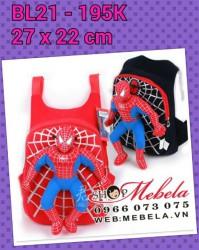 BL21 Balo siêu nhân người nhện cho bé 27x22cm (loại nhỡ)