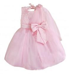 V2071 - Váy dự tiệc  gắn hoa vai cho bé 2,3,6t - 13,14kg và 19,20kg