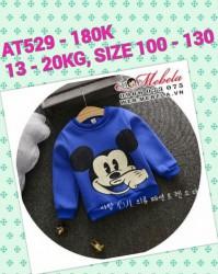 AT529 Áo nỉ Mickey cho bé 13-20KG, 2,5-6T, SZ 100-130