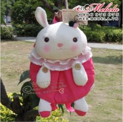 BL03 Balo thỏ hồng xinh cho bé gái