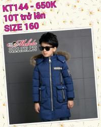 KT144 - Áo khoác phao cực dày ấm cho bé trai 10 tuổi trở lên, size 160