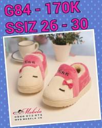 G84 - Giày bông mèo ngủ cho bé gái, size 26 -30