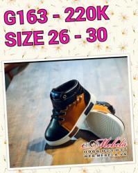 G163 - Giày cao cổ pha màu cho bé , size 26 - 30