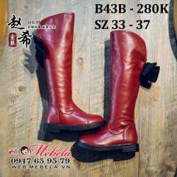 B43B boot da đỏ cho bé gái, sz 33-37