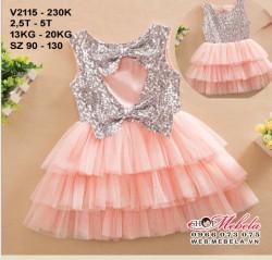 V2115 - Váy kim sa 3 tầng cho bé 13-20kg; 2,5t - 5t; sz 90 - 130