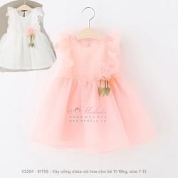 V2204 Váy công chúa cài hoa cho bé 11-16kg, size 7-13