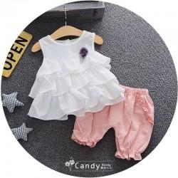 BG305 Bộ áo 3 tầng + quần bồng cho bé gái 7-15kg, sz 5-13