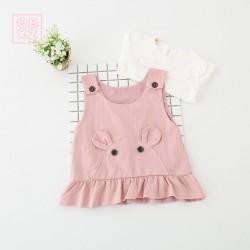 AG594 Set 2 áo mặt thỏ cho bé gái 8-13kg sz S-XL