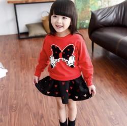 V611 Bộ váy nỉ đỏ Mickey cho bé 25-29kg sz 13,15,15