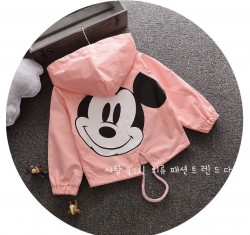 KG418 Áo khoác kaki hồng Mickey cho bé 12-19kg sz 6-12