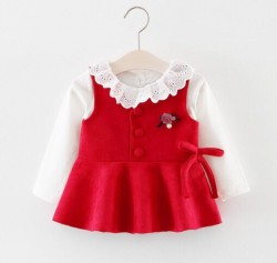 BG545 Bộ 2 áo đỏ trắng cho bé 10-14kg sz 6-12