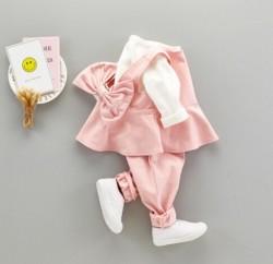 BG544 Bộ hồng nơ lưng 3 món gồm 2 áo 1 quần cho bé 8-13kg sz 6-12