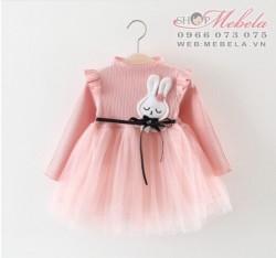 V772 Váy hồng thỏ trắng cho bé 10-15kg sz 5-13