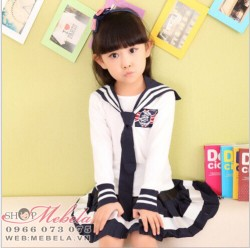 V774 Bộ váy thủy thủ cho bé gái 16 - 40kg size 110-140-160