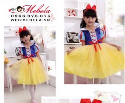 V776 Váy công chúa Bạch Tuyết size từ 18 - 50kg, kèm bờm và choàng ngắn