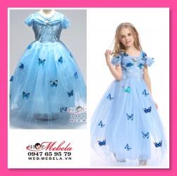 V777 Váy công chúa Lọ Lem trang trí bướm cho bé 14-31kg