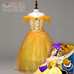 V778 Váy Disney Người đẹp và quái vật - công chúa Bella size 15kg trở lên