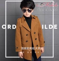KT170 Áo khoác, áo vest dạ màu bò cho bé 6 - 15 tuổi, cao 120-155cm, 23 - 55kg (size 120-170)