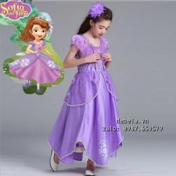 V780 Váy công chúa Sofia cho bé 14-36kg