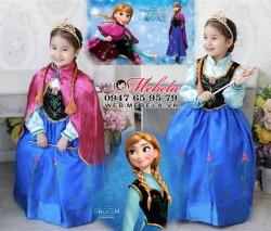 V782 Váy công chúa Anna kèm áo choàng ngắn cho bé 14-27kg