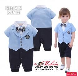 BD79 Bộ liền giả vest dự tiệc cho bé size 9 đến12kg, 90-95