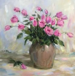 Tranh hoa hồng thơm