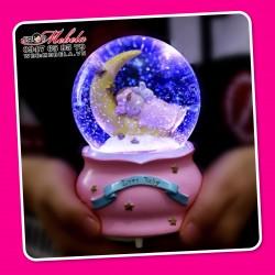 CT27 Quà tặng quả cầu tuyết có đèn, nhạc, tuyết tự bay
