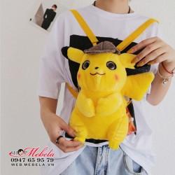 BL38 Balo kiêm túi đeo chéo Pikachu detective, thám tử Pikachu