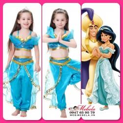 Bộ đồ công chúa Jasmine - Aladdin và cây đèn thần, có clip