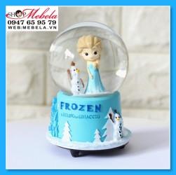 Quà lưu niệm quả cầu tuyết công chúa Elsa có đèn, nhạc