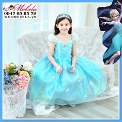 Váy đầm công chúa Elsa - Frozen cho bé 13-30kg