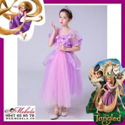 Váy đầm công chúa tóc mây Rapunzel cho bé