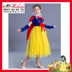 Váy công chúa Bạch Tuyết - Snow White cho bé 15-34kg, có clip shop tự quay