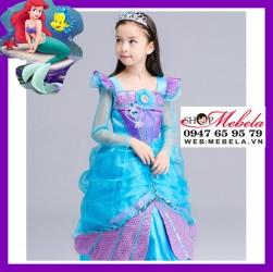 Váy Nàng tiên cá, công chúa Ariel cho bé 14-29kg có clip