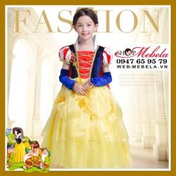 Váy đầm công chúa Bạch Tuyết - Snow White cho bé 13-35kg có clip thật