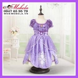Váy công chúa Sofia loại ngắn cho bé